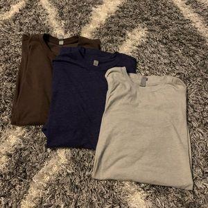 3 - men's basic t shirts - size large